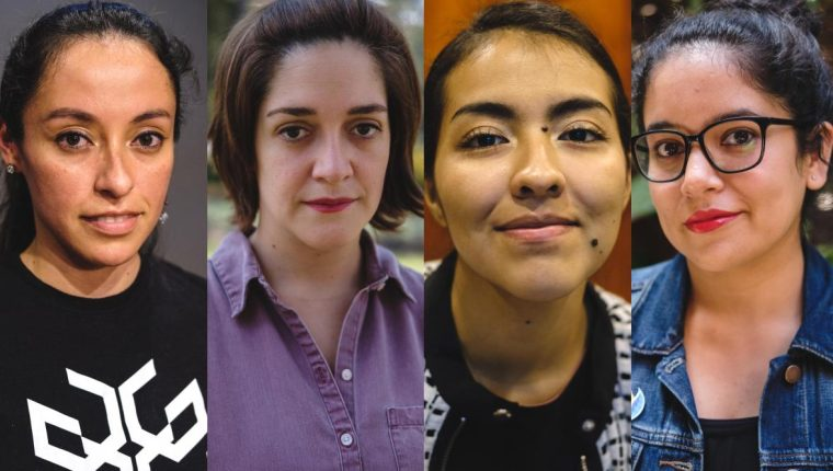 Tania Morales, Valeria Andrews, Dina Ramírez y Súa Agapé relatan su vida como artistas (Foto Prensa Libre: J. Ochoa).