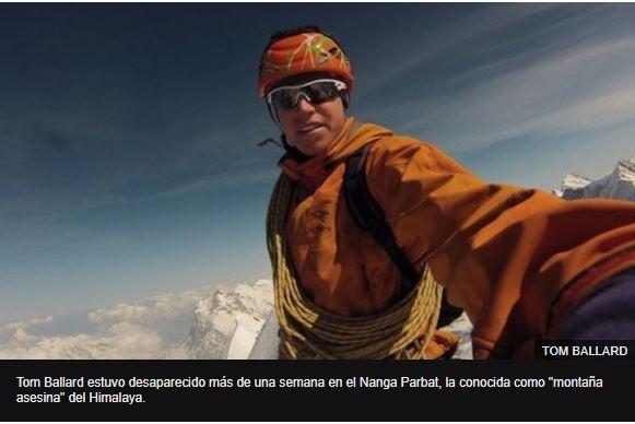 La trágica historia de Tom Ballard, el montañista hallado muerto junto a su compañero Daniele Nardi tras pasar 12 días desaparecidos en el Himalaya