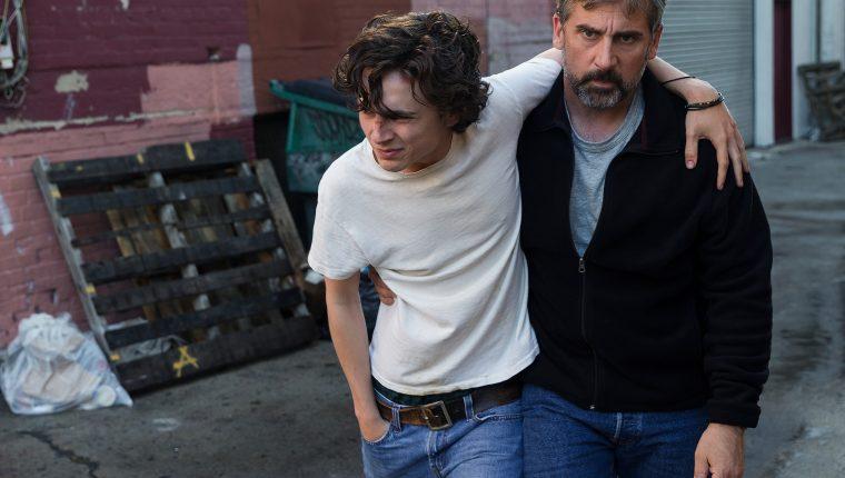 La película está basada en la experiencia de David  y Nic Sheff, padre e hijo. La drogadicción de su hijo  le da un giro a la vida de ambos (Foto Prensa Libre: Amazon)