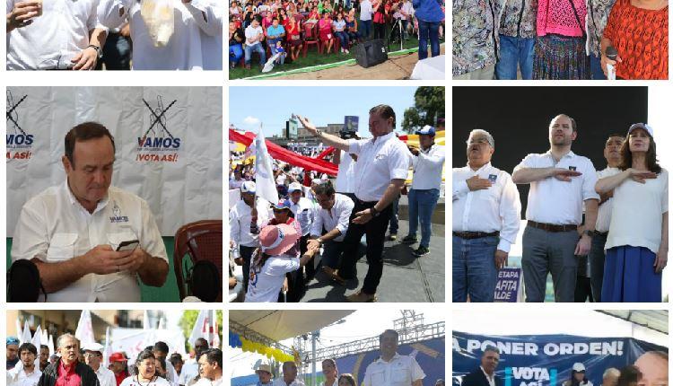 Los candidatos a la presidencia recorrieron el país para convencer a los electorales que son la mejor opción. (Foto Prensa Libre)