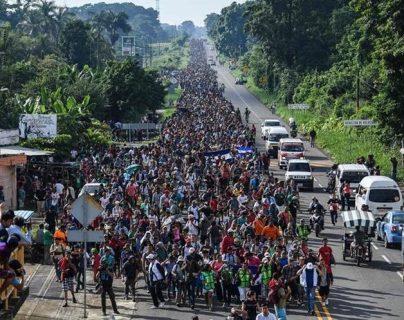 Caravanas de migrantes se formaron desde el año pasado para poder llegar a EE. UU. (Foto Prensa Libre: Hemeroteca PL)