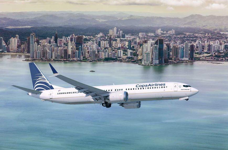 Copa Airlines informó que cubrirá los vuelos que operaban sus Boeing MAX9 con el resto de su flota y hará lo posible por minimizar el impacto a los itinerarios de sus pasajeros. (Foto Prensa Libre: Copa Airlines)