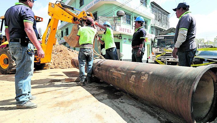 Los trabajos que se efectuarán en la Calle Martí y 13 avenida a partir de hoy tendrán impacto vial, se informó en Emetra.(Foto Prensa Libre: Hemeroteca PL)