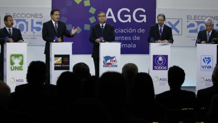 Vista de un debate vicepresidencial del 2015. (Foto Prensa Libre: Hemeroteca PL)