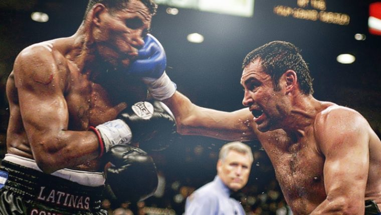 Ricardo Mayorga perdió contra Oscar de la Hoya el 6 de mayo de 2006. (Foto Prensa Libre: Hemeroteca PL)