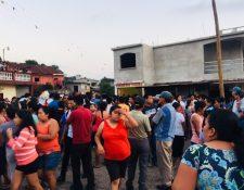 Vecinos de la Comunidad Agraria Las Mercedes, Colomba, Quetzaltenango, lamentan lo sucedido. (Foto Prensa Libre: Alexánder Coyoy)