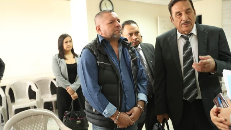 Rony Alexander Ortiz López, supuesto narcotraficante, se abstuvo a declarar. (Foto Prensa Libre: Esbin García)