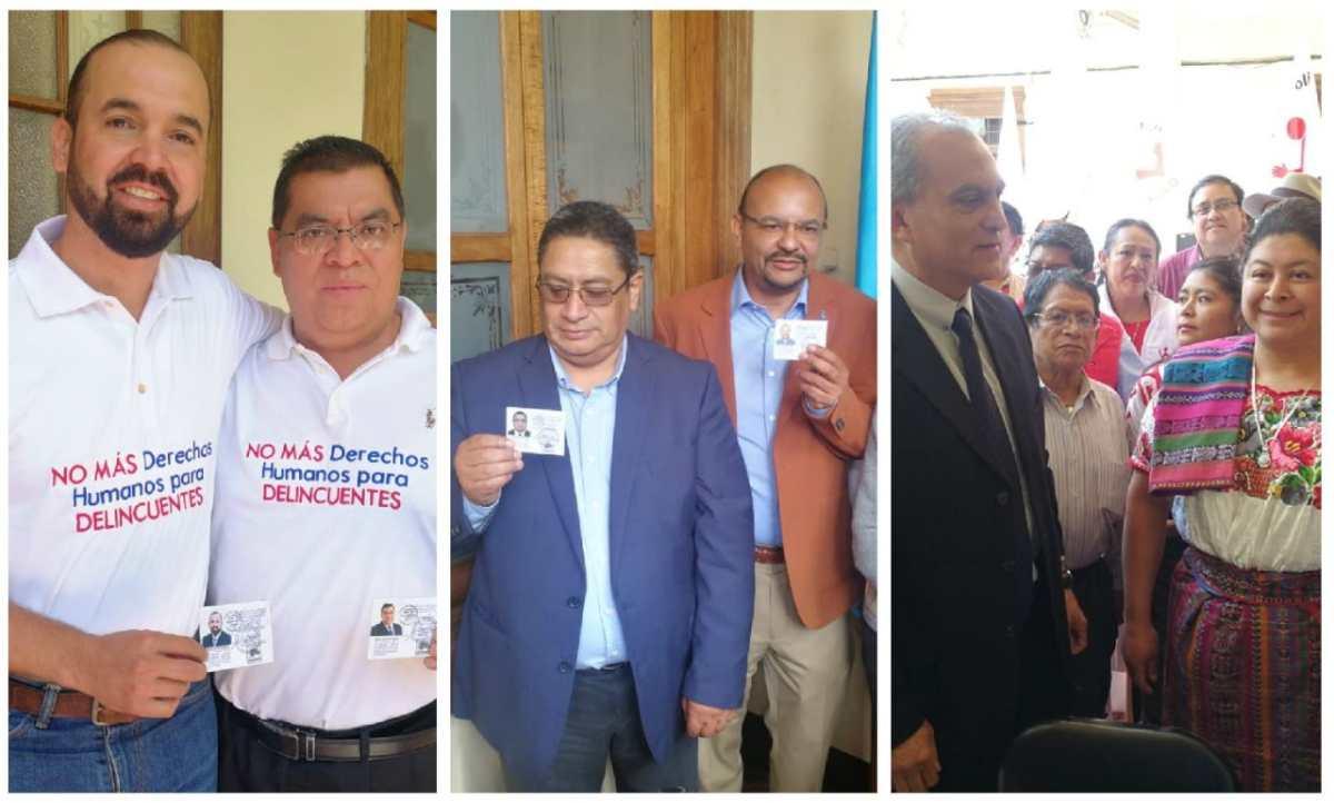 Binomios presidenciales de Winaq, Victoria y EG reciben credenciales