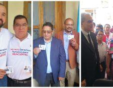 Tres binomios presidenciales reciben credenciales en el TSE. (Foto Prensa Libre:)