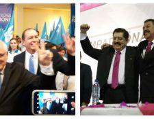 Los partidos Viva y Avanza presentaron al binomio presidencial que los representará en los próximos comicios. (Foto Prensa Libre: Juan Diego González y Carlos Hernández)