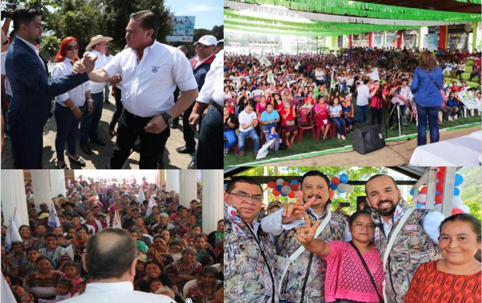 Presidenciables aprovechan el fin de semana para intensificar su campaña electoral. (Foto Prensa Libre: Carlos Ovalle y twitter)