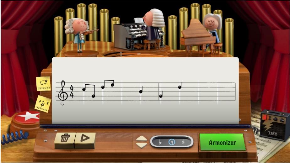 Google presentó este martes su primer doodle que trabaja con IA, el cual le permite al usuario crear melodías al estilo de Johann Sebastian Bach. (Foto Prensa Lobre: Google)