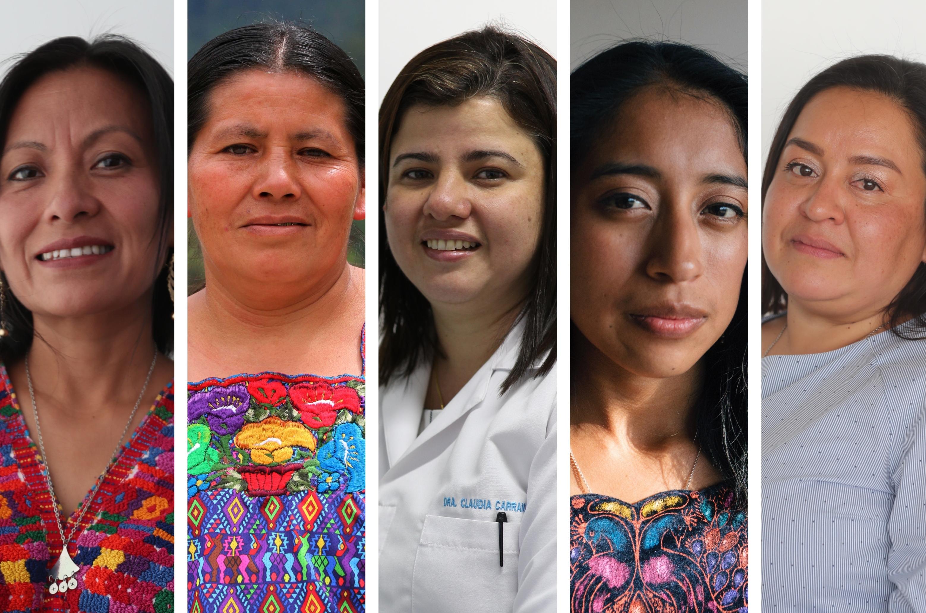 Angelina Aspuac, Herlinda Xol, Claudia Carranza, Mercedes Coroy y Dulce Barrera son guatemaltecas que inspiran.