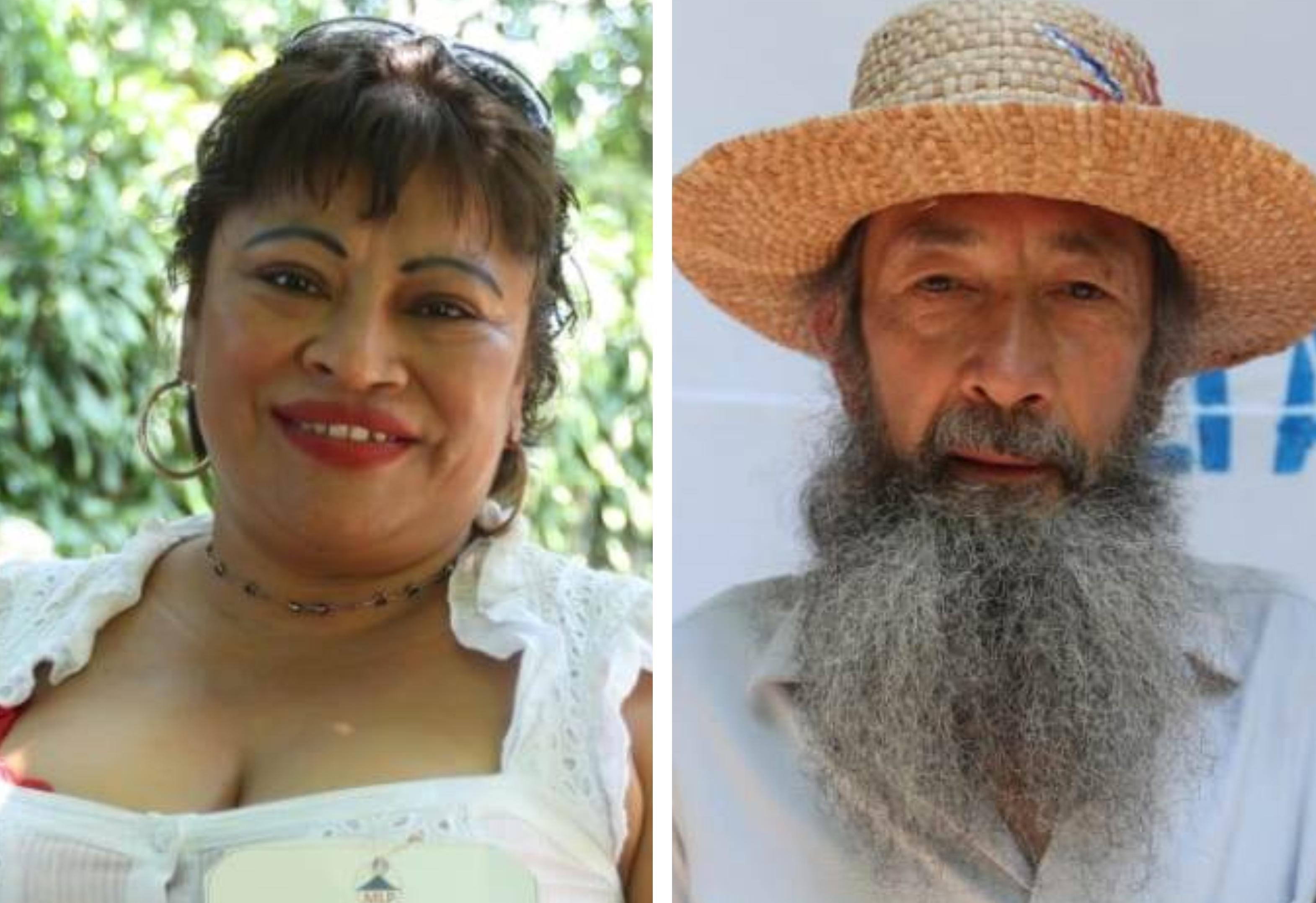 La Pirulina y El Caminante, personajes que han surgido en manifestaciones ciudadanas, buscan llegar al Congreso. (Foto Prensa Libre: Esbin García)