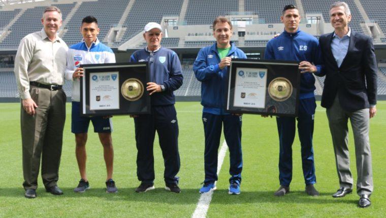Guatemala y El Salvador jugarán el primer partido amistoso en el recién inaugurado Los Ángeles Stadium. (Foto cortesía Fedefut).