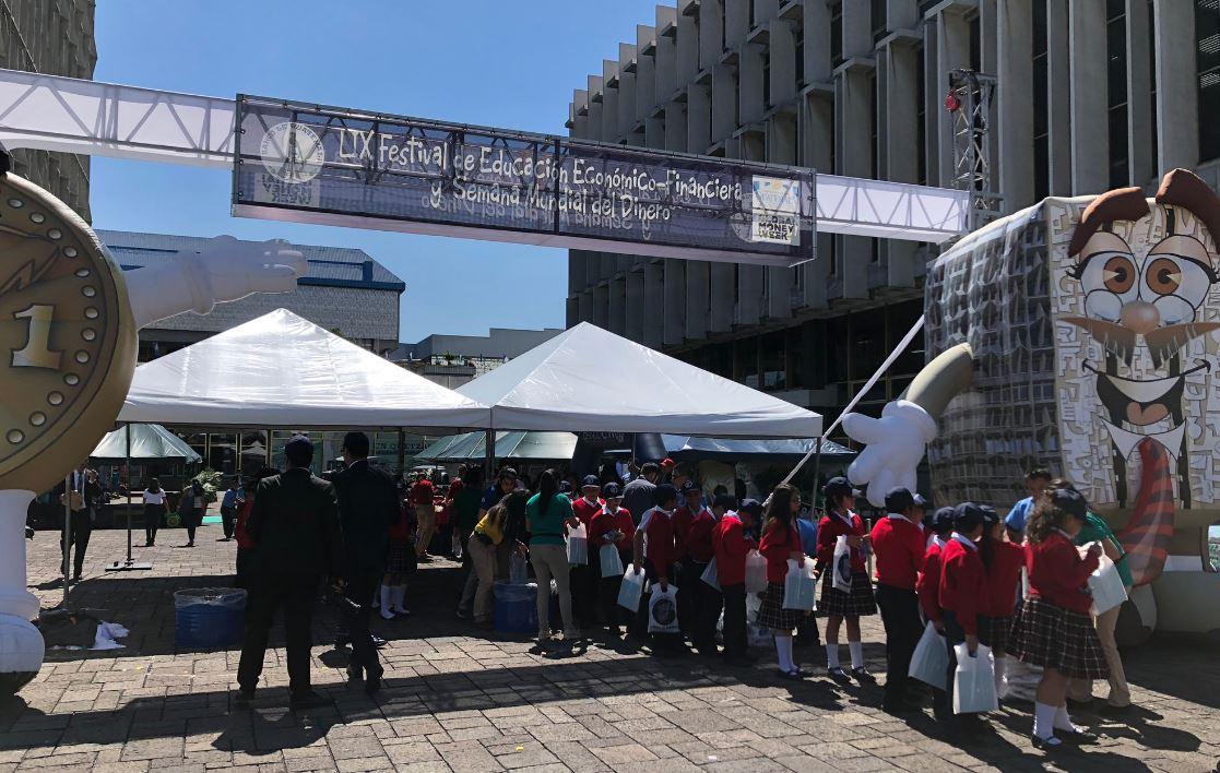 El Banco de Guatemala lleva a cabo el LIX Festival de Educacion Económico-Financiera y Semana Mundial del Dinero 2019. (Foto Prensa Libre: Banguat)