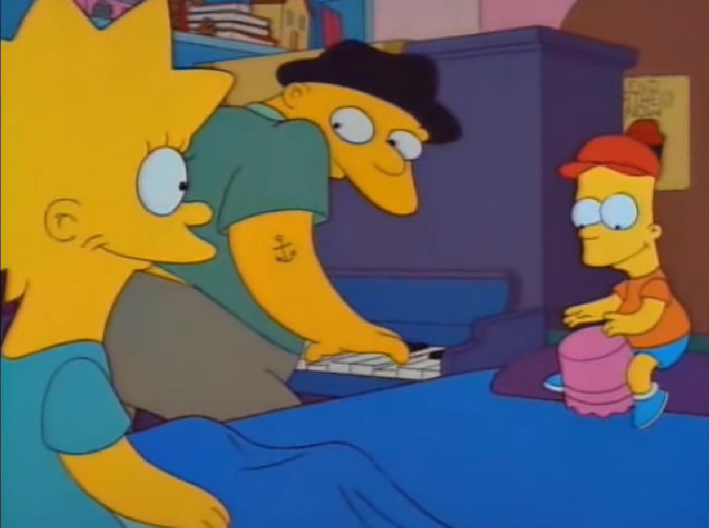 """Michael Jackson prestó su voz para el episodio """"Papá está loco"""", de la serie animada Los Simpson. (Foto Prensa Libre: YouTube)"""