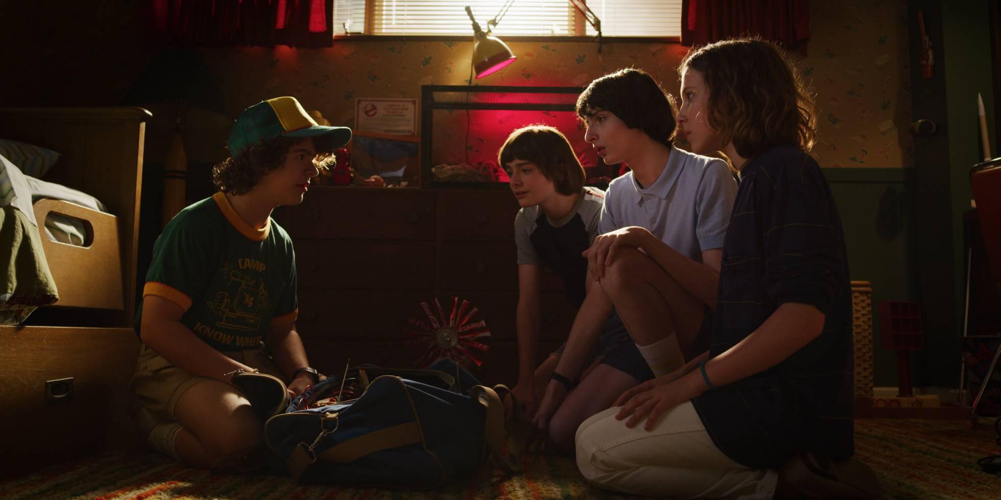 Los personajes principales de Stranger Things se reúnen para una nueva aventura. (Foto Prensa Libre: Netflix)