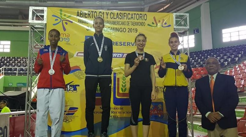 Guatemalteca Yuliena Pedroza cierra con oro el Open de taekwondo en República Dominicana