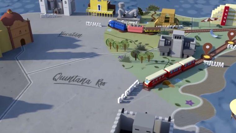 El Tren Maya es una de las principales infraestructuras impulsadas por el presidente mexicano Andrés Manuel López Obrador. (Foto Prensa Libre: www.trenmaya.gob.mx)