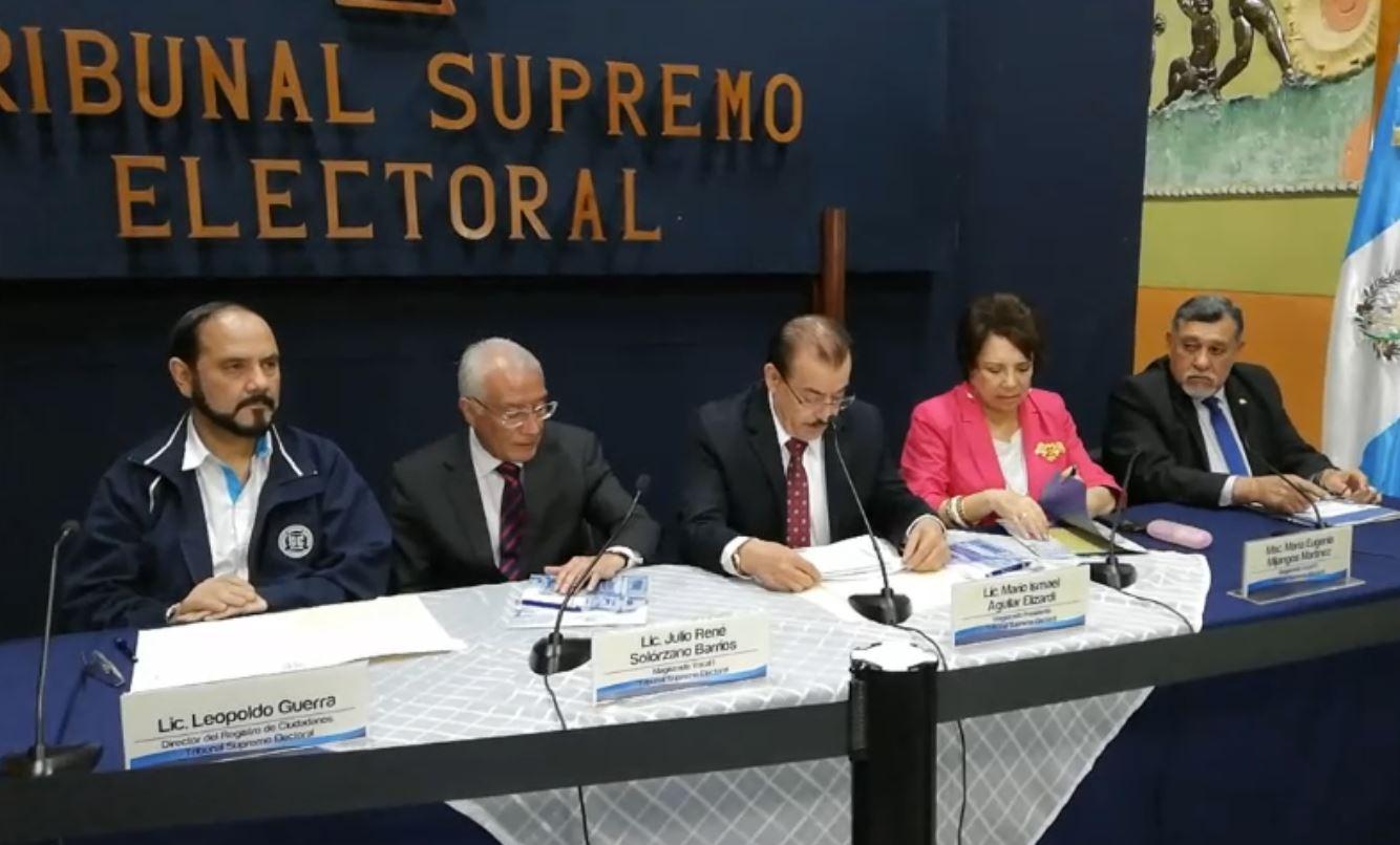 Magistrados del TSE estudiarán posibles reformas a la Ley Electoral luego del proceso de 2019.  (Foto Prensa Libre: Hemeroteca PL)