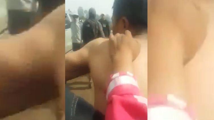 Martín Silverio Suy Ajpacajá, vecino de Santa Catarina Ixtahuacán, Sololá, aparece en un video en poder de una turba. (Foto Prensa Libre: Cortesía)