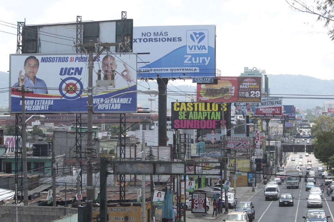 Los partidos encontraron la forma de promocionar más a los candidatos sin trasgredir la ley. (Foto Prensa Libre: Hemeroteca PL)