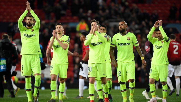 """El Barcelona consiguió una victoria clave en el """"Teatro de los Sueños"""". (Foto Prensa Libre: AFP)"""