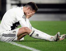 A pesar del esfuerzo de Cristiano Ronaldo el proyecto de la Juventus en Champions volvió a fracasar. (Foto Prensa Libre: AFP)