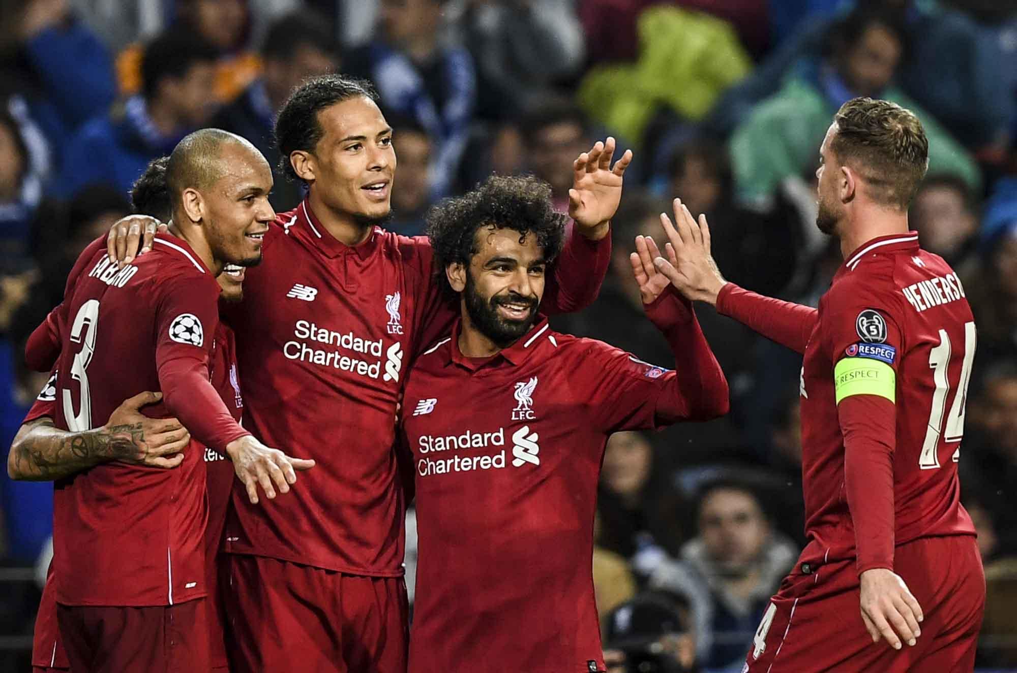 Los Jugadores Del Liverpool Celebran La Clasificacion A Las Semifinales De La Champions League