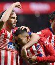 Ángel Correa anotó en la victoria del Atlético de Madrid contra el Valencia. (Foto Prensa Libre: AFP)