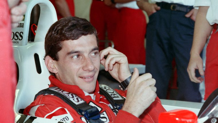 Ayrton Senna falleció el 1 de mayo de 1994 durante el Gran Premio de San Marino. (Foto Prensa Libre: AFP)