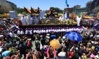 Durante Semana Santa miles de feligreses serán parte de las procesiones que recorrerás las calles de la ciudad de Guatemala. (Foto Prensa Libre: Carlos Hernández Ovalle)