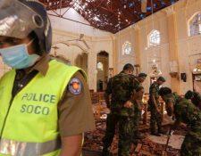 Tres iglesias católicas y tres hoteles fueron los principales objetivos del ataque. (GETTY IMAGES)