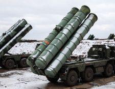 """Los S-400 """"Triumf"""" de Rusia figuran entre los sistemas de misiles """"tierra-aire"""" más avanzados del mundo. GETTY IMAGES"""