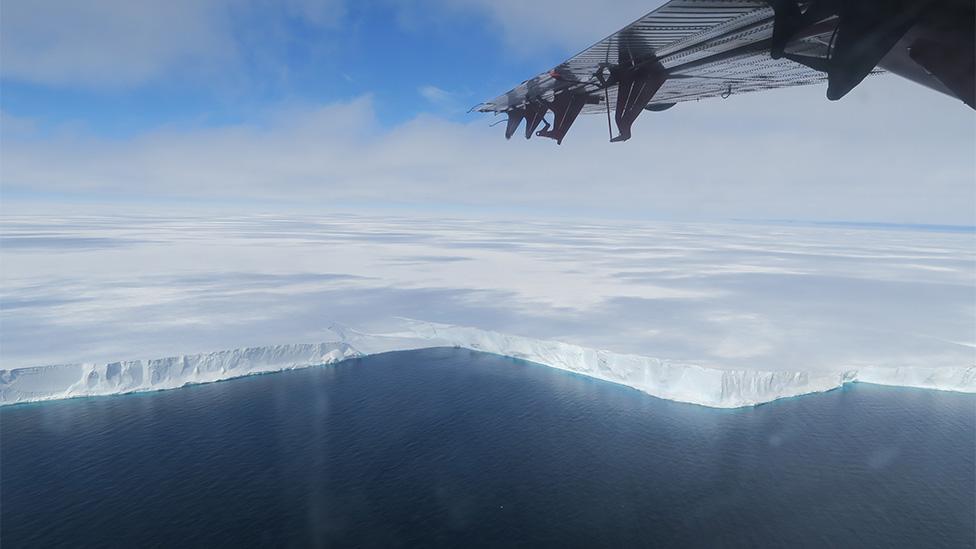 La plataforma de hielo Brunt tiene un espesor de entre 150 y 250 metros.