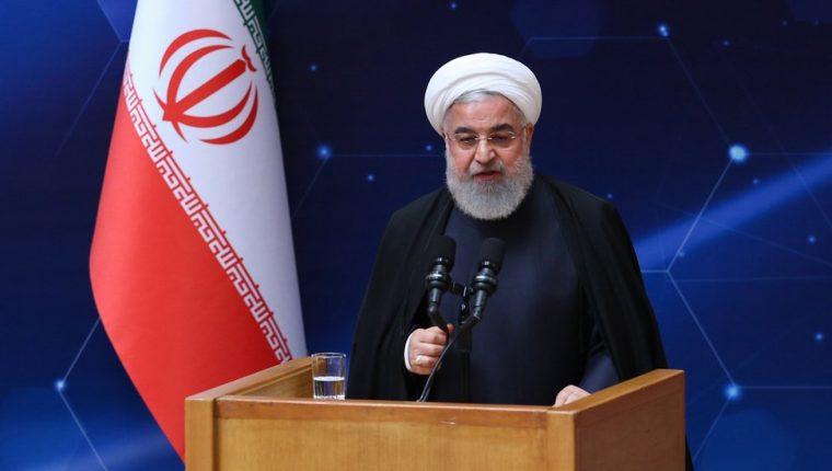 El presidente de Irán, Hassan Rounani emitió sus declaraciones durante una ceremonia para conmemorar el Día Nacional de Tecnología Nuclear en Teherán. EPA