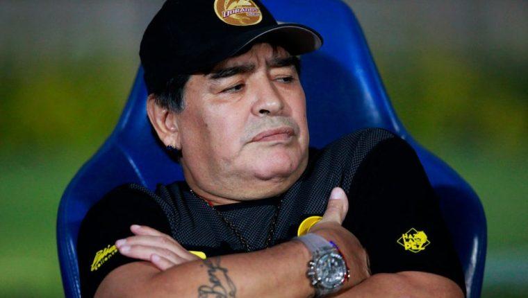Diego Armando Maradona es el técnico de los Dorados de Sinaloa.