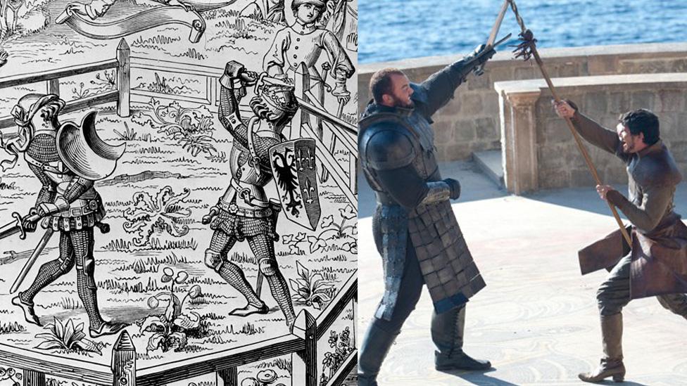 Los juicios por combate fue una práctica común en la Europa medieval. Su mejor versión -aunque no la única- en Juego de Tronos fue la lucha entre La Montaña y Obery Martell.