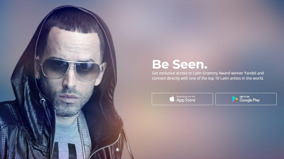 El cantante puertorriqueño de reggaetón Yandel es uno de los usuarios de la aplicación.