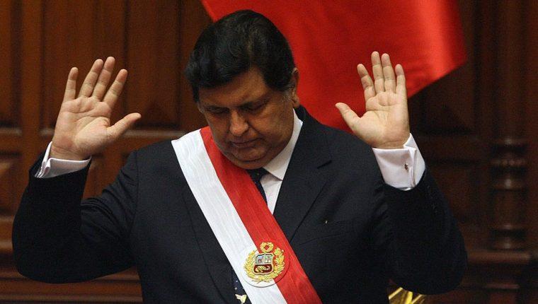 Alan García fue presidente de Perú dos veces: de 1985 a 1990 y de 2006 a 2011. GETTY IMAGES