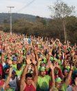 Participantes en la carrera 10K de Mixco del 2018. (Foto Prensa Libre: Tomada de Facebook de 10K Mixco)