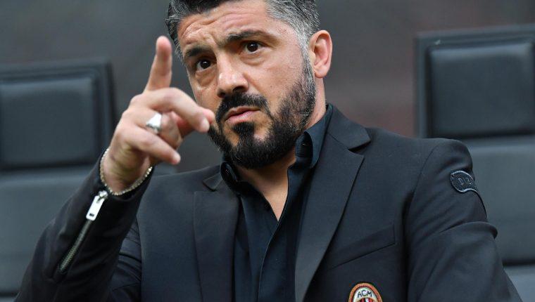 El italiano Genaro Gattuso dejó de ser el entrenador del AC Milan. (Foto Prensa Libre EFE)