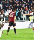 Moise Kean celebra el gol del triunfo para la Juventus. (Foto Prensa Libre: EFE)