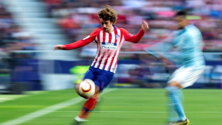 El delantero francés del Atlético de Madrid Antoine Griezmann. (Foto Prensa Libre: EFE)