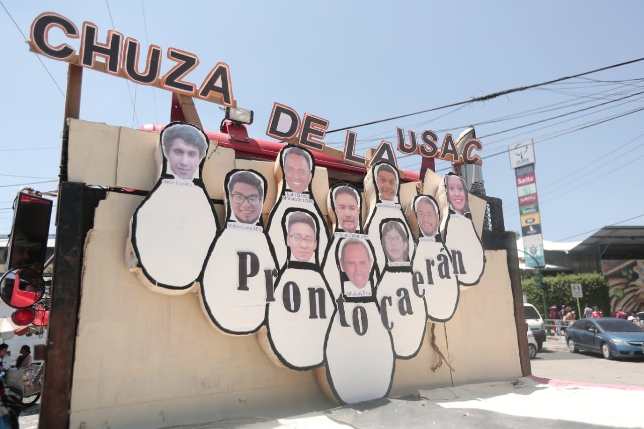 Los estudiantes también se autocriticaron y expusieron sus inconformidades. Foto Prensa Libre: Juan Diego González