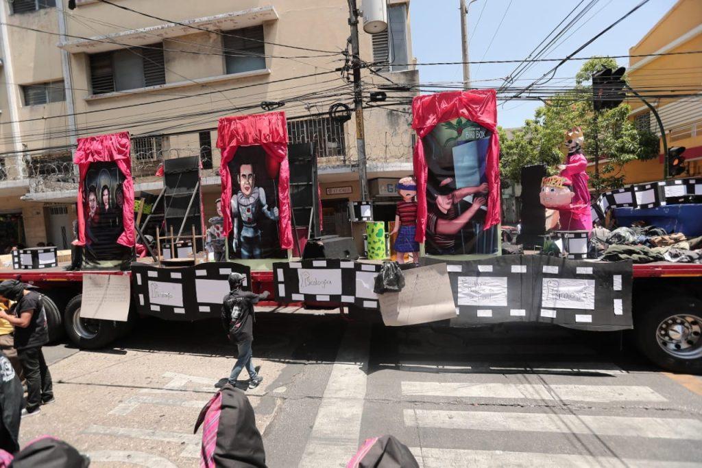 Dentro de las denuncias se alude al gobierno actual. Foto Prensa Libre: Juan Diego González