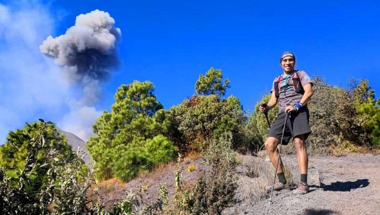 Erick Josué Ajtun, corredor quetzalteco que se ha especializado en las competencias de montaña de larga distancia. (Foto Prensa Libre: Cortesía)