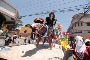 La tradicional Huelga de Dolores es un patrimonio intangible de la nación. Foto Prensa Libre: Juan Diego González
