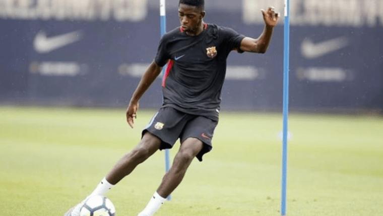 Ousmane Dembélé podría volver a la acción en la ida de los cuartos de final entre el Barcelona y el Manchester United. (Foto Prensa Libre: Hemeroteca PL)
